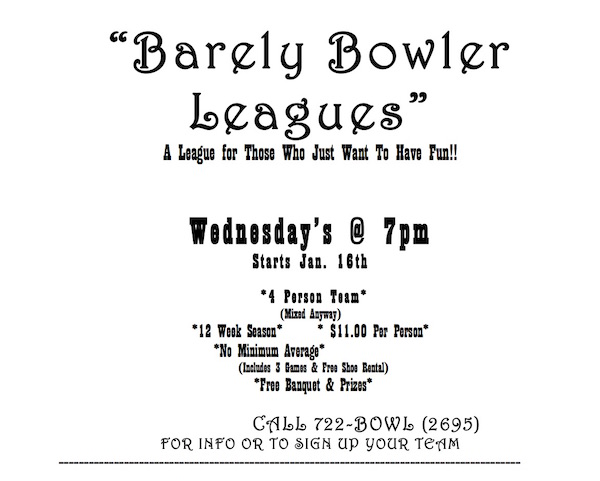 barely bowler league